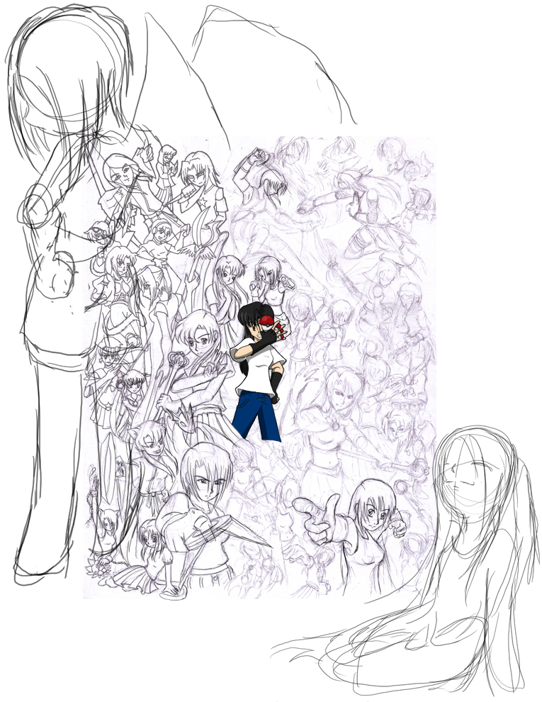 Art Post 6: Collage of An/Es/Heidi - Progress